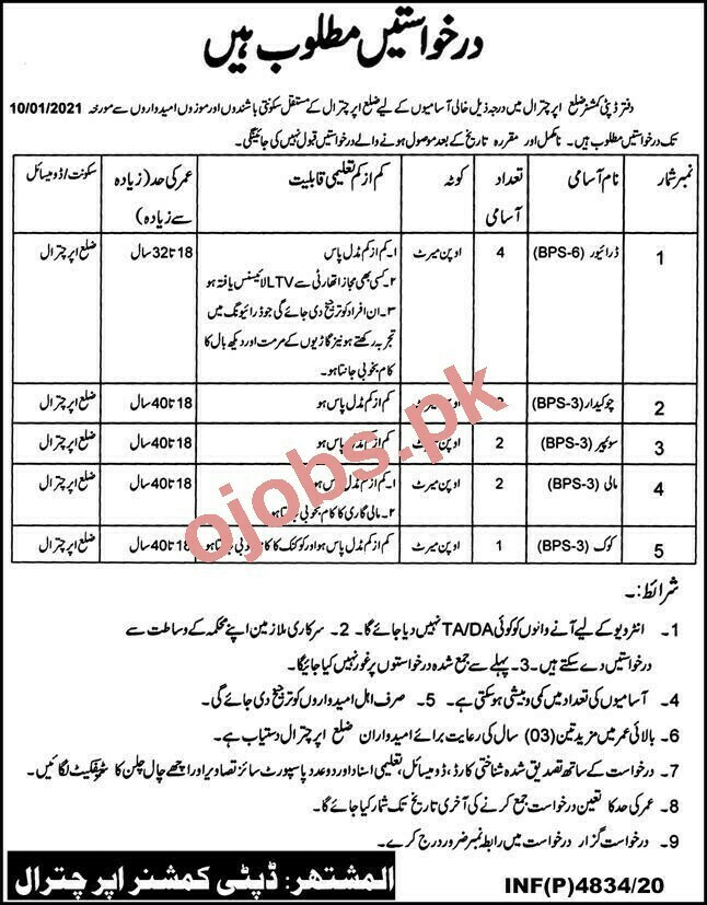 Driver Jobs in Office of The Deputy Commissioner