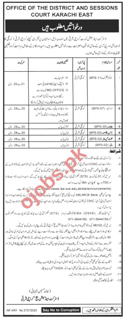 Junior Clerk Jobs in District and Session Court