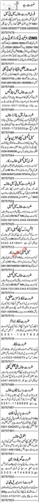 Daily Express Newspaper Classified Jobs in Lahore 2021