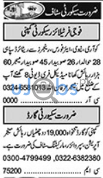 Security Guard Jobs 2021 in Lahore