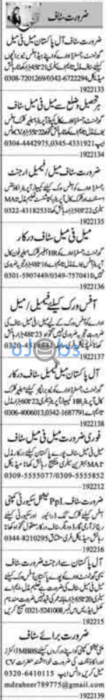 Daily Dunya Newspaper Classified Jobs in Lahore 2021