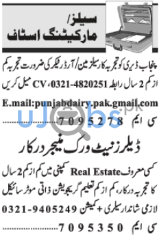 Marketing Staff Jobs in Lahore 2021