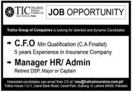 Trafco Group of Companies Lahore Jobs 2021