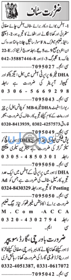 Daily Jang Newspaper Classified Jobs in Lahore 2021