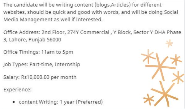Content Writer Part Time Jobs 2021 in Lahore