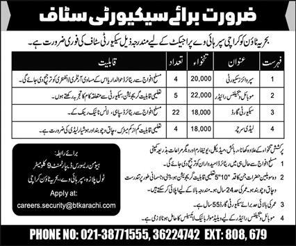 Karachi Super Highway Project Jobs 2021 For Security Staff