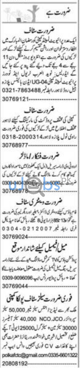 Daily Express Newspaper Classified Jobs in Lahore April 2021