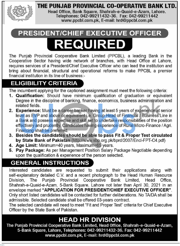 See job advertisement for relevant experience, qualification, age limit information and apply online.