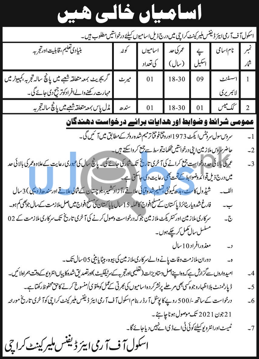 Government Assistant Library Jobs in Karachi June 2021
