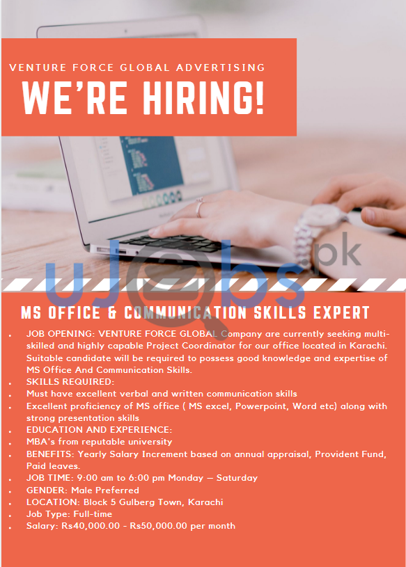 MS Office and Communication Skills Expert Jobs in Karachi 2021