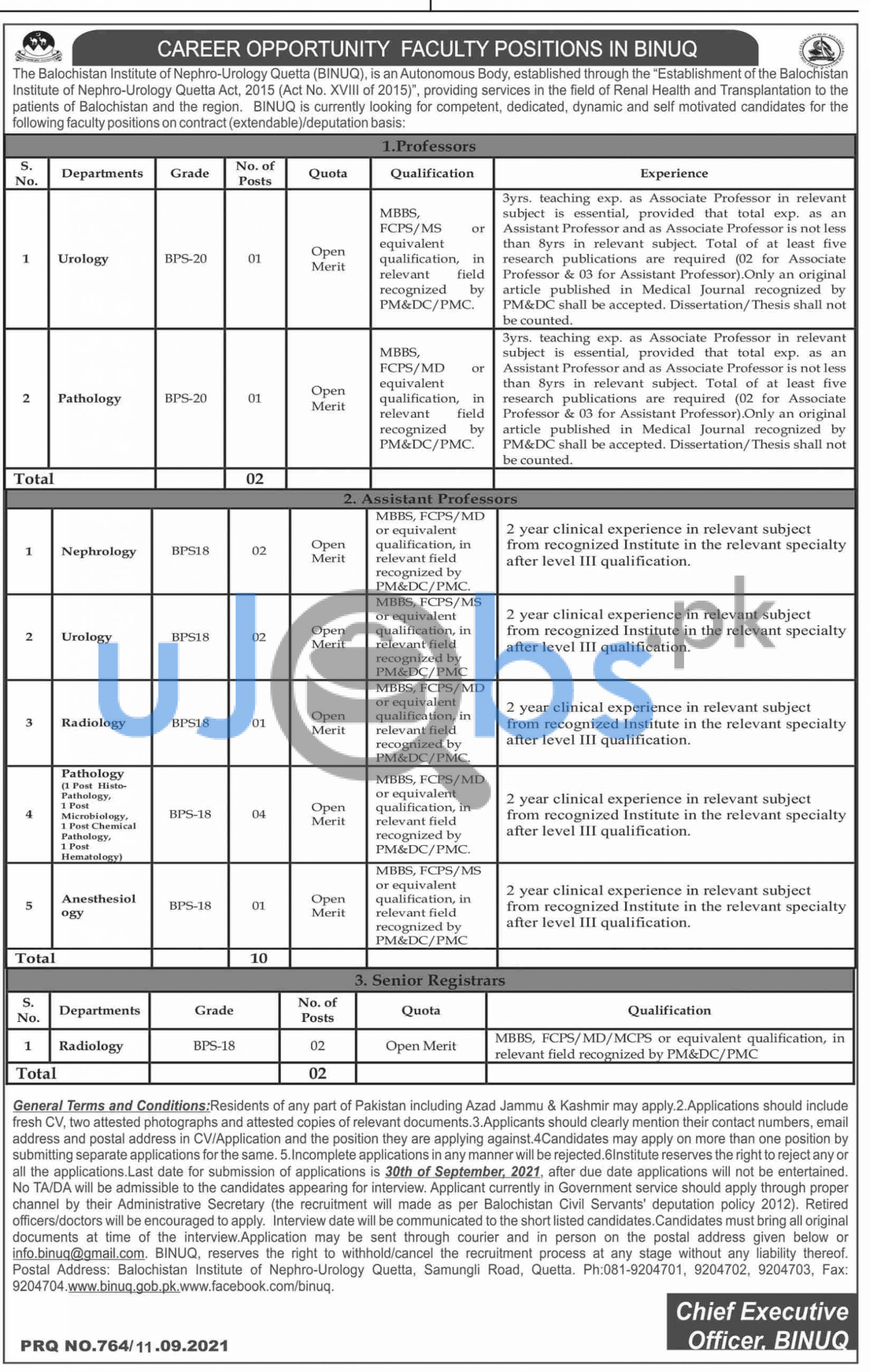 Government Jobs in Quetta 2021 For MBBS, FCPS, MS