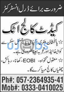 Cadet College Attock Jobs 2021 For Drill Instructor