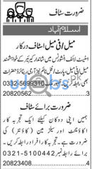 Male/Female Staff Part Time Jobs in Islamabad 2021