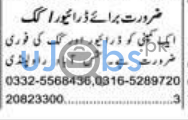 Cook and Driver Jobs in Islamabad 2021