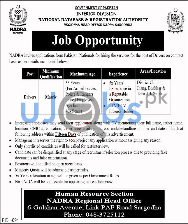 Government Jobs in Pakistan 2021 For Matric Pass