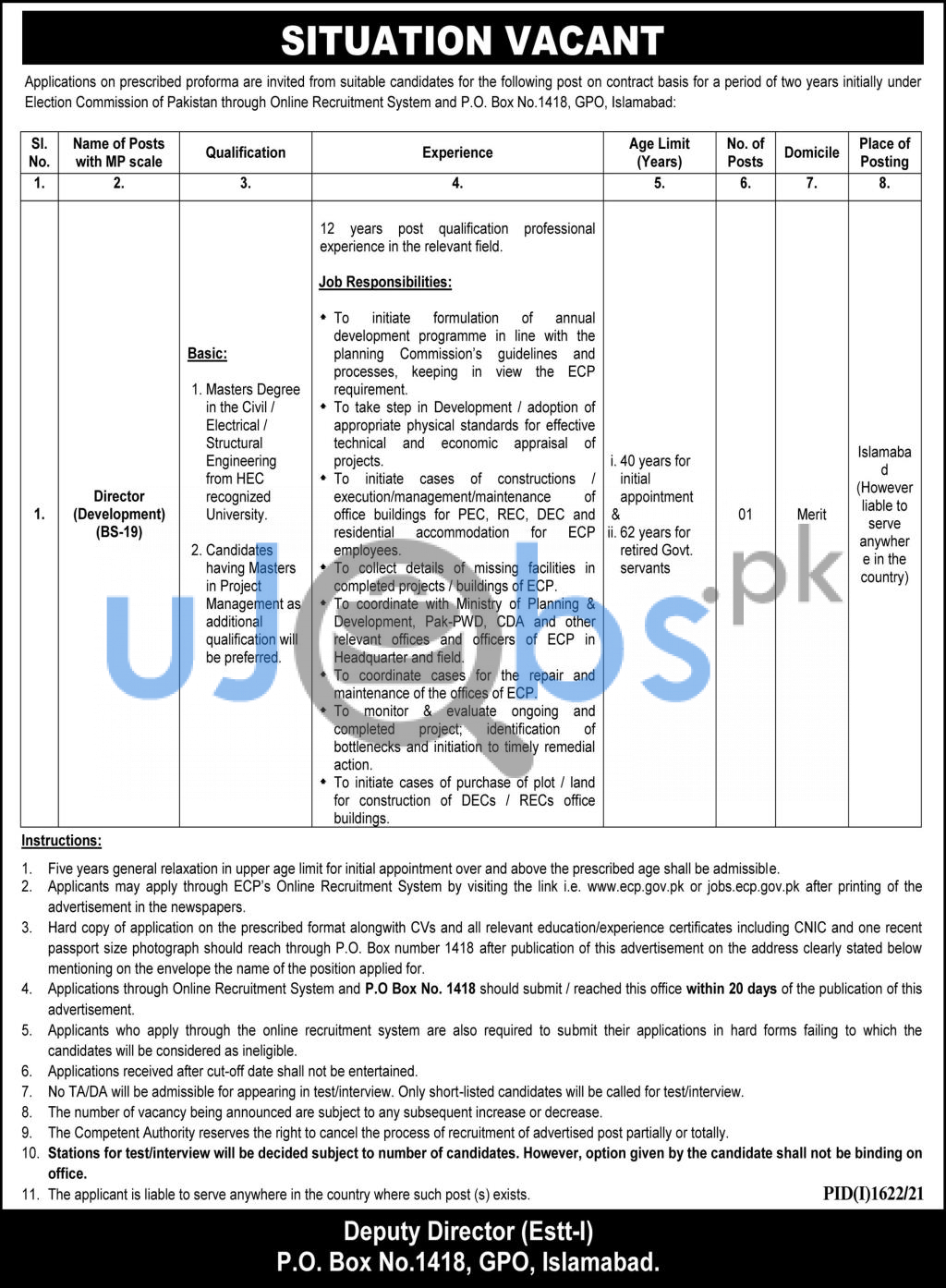 MS Project Management Jobs in Islamabad 2021