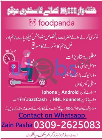 Part Time Jobs in Sialkot For Students